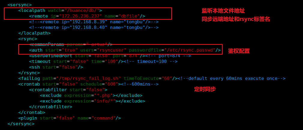 rsync + sersync实现文件同步